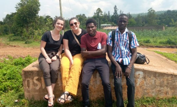 Karissa Frazier poses for a photo with fellow students from SPH and Maseno University in Kisumu, Kenya.